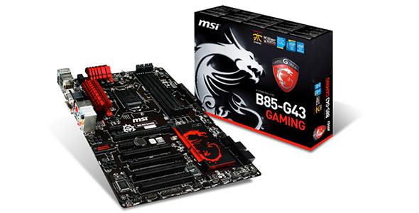 标配杀手网卡 微星B85 G43-GAMING主板售599元