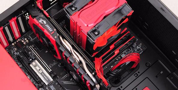 新年尝鲜,黑红风格kabylake主机装机及测试