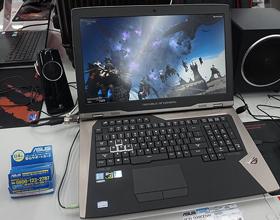 华硕双路GTX1080游戏本GX800真机图