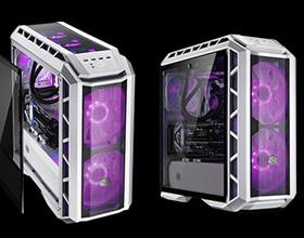 双20CM大魔眼!酷冷至尊H500P网格白色版机箱开箱