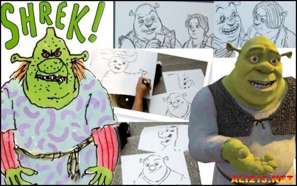 """""""怪物史瑞克""""人物设计简图"""