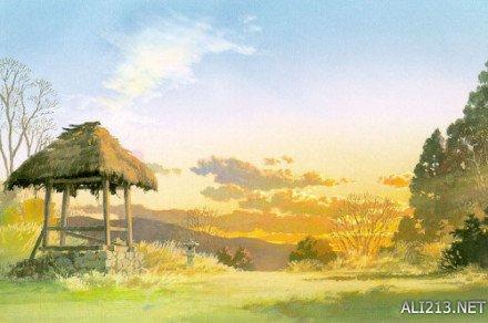 二次元风景好清新!宫崎骏御用背景美术师作品欣赏