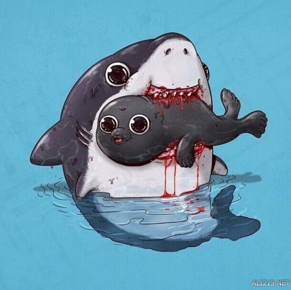 萌系鲨鱼qq头像