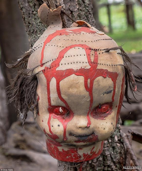 """墨西哥""""幽灵岛""""恐怖的娃娃森林"""