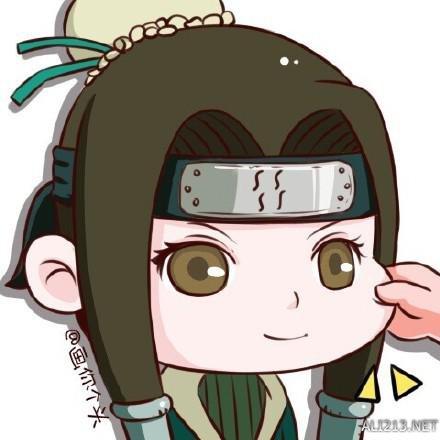 雏田还是那么娇羞 《火影忍者》动画人物捏脸萌图