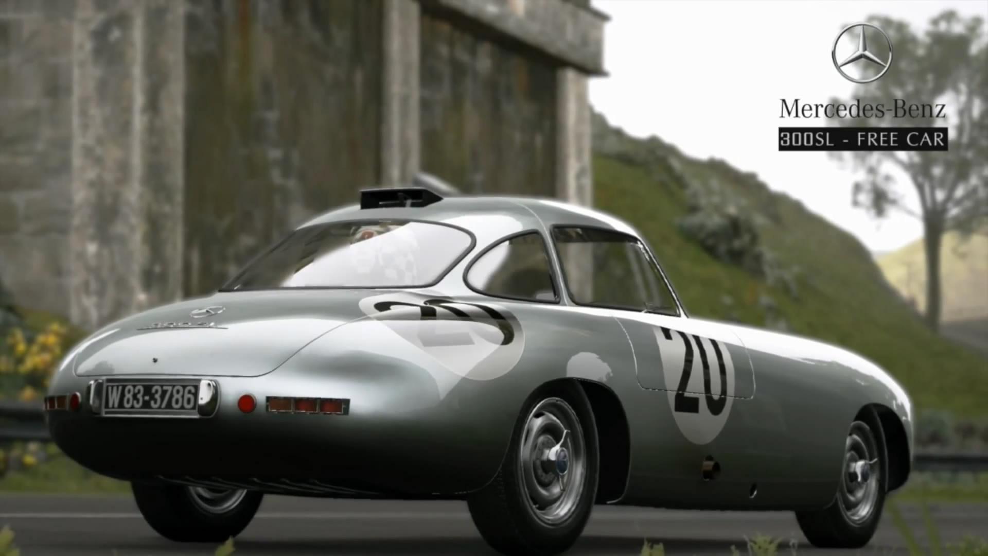 免费赛车:梅赛德斯-奔驰300sl高清图片