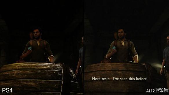 《神秘海域2》ps3/ps4画面对比