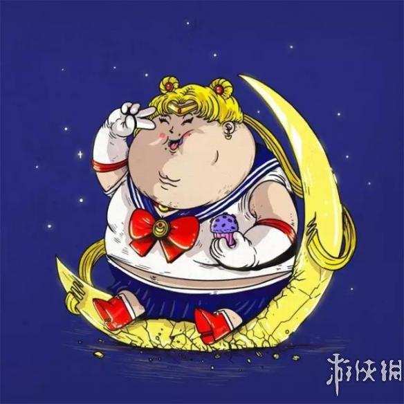 超级马里奥,白雪公主等经典卡通形象,都被他画成了萌萌哒小胖子&helli