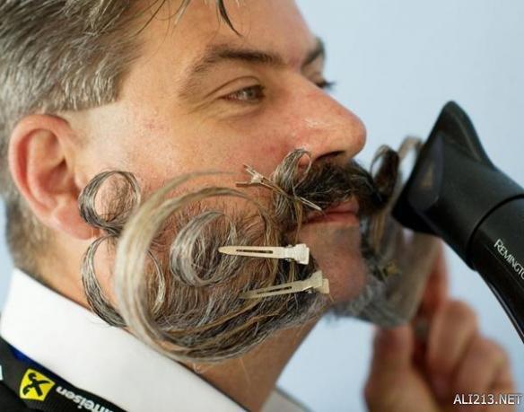 2015世界胡子大賽 造型不輸白胡子