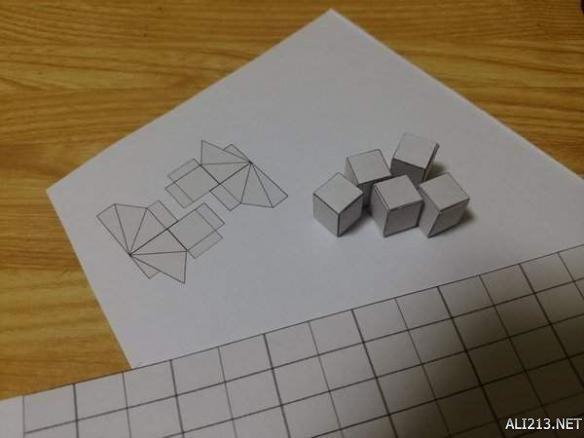 千年积木可组装纸膜