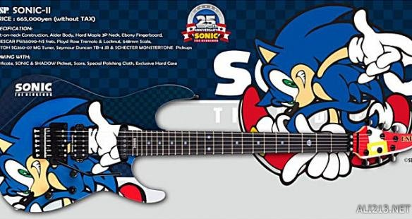索尼克25周年纪念吉他公布 拿这把吉他开演唱会该是多酷