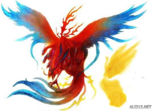 毕方的外形象丹顶鹤,但是只有一条腿(一说为只有一只翅膀),身体为蓝色