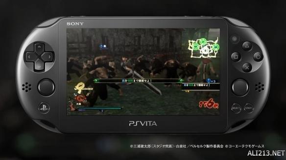 (转自游侠网)《剑风传奇无双》PSV画面首曝 小屏幕也依旧很黄暴