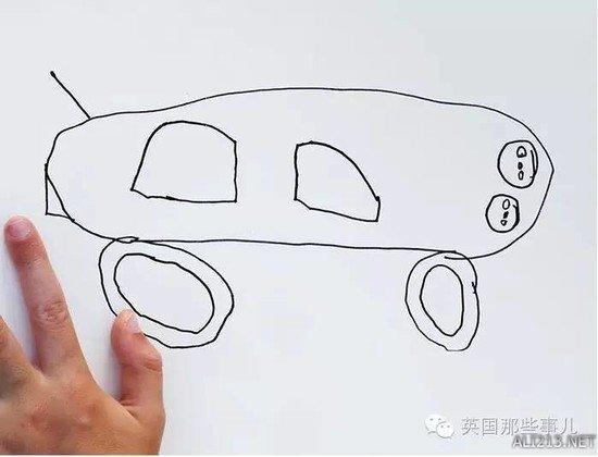 老爸把6岁儿子的简笔画p成现实版,这炸裂的画风!