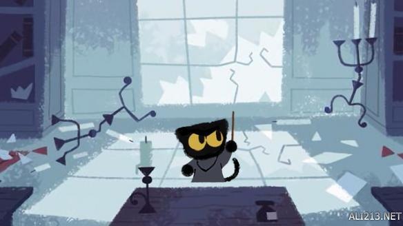 google首页推出万圣节小游戏 激萌魔法小黑猫驱逐恶灵 游戏 第2张