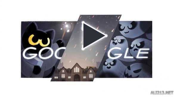 google首页推出万圣节小游戏 激萌魔法小黑猫驱逐恶灵 游戏 第1张