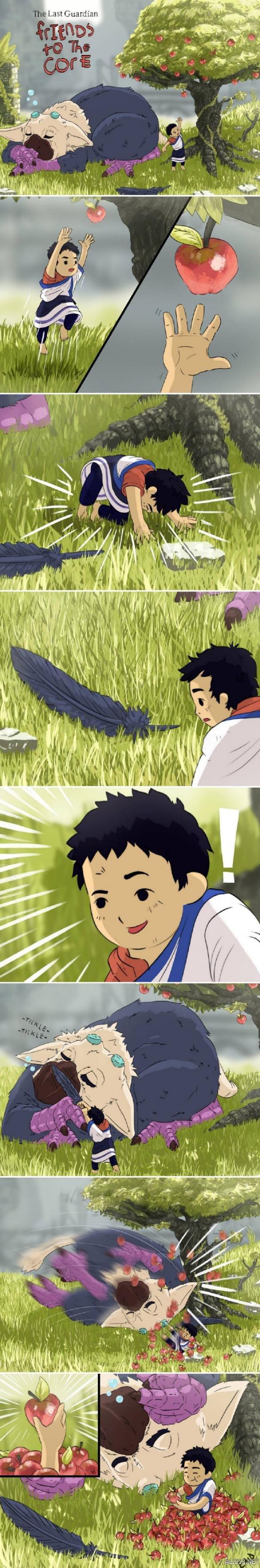 《最后的守护者》官方漫画 贴心朋友之大鹫的使用方法