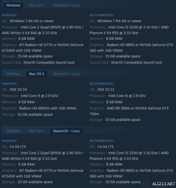 黑曜石新作《暴君》曝PC配置要求 GTX560无压力畅玩