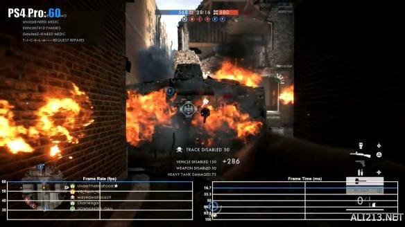 《战地1》PS4 Pro版帧数测试视频 部分场景帧数下降