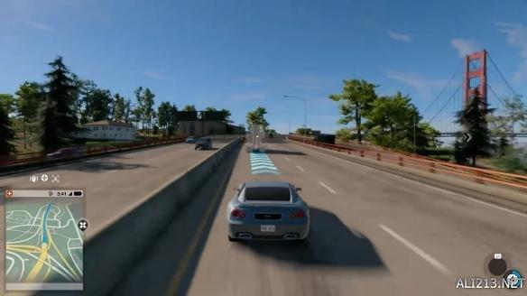 《看门狗2》整张地图驾车体验 游戏地图究竟有多大?