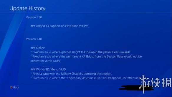 《刺客信条:枭雄》PS4 Pro补丁推出 效果不如人意
