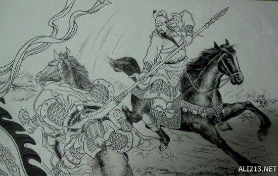 三国演义人物手绘关羽