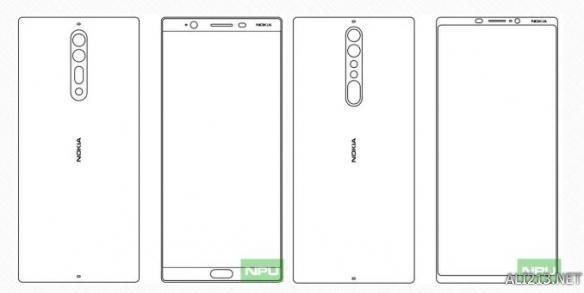 诺基亚新旗舰Nokia 9设计图纸曝光:双摄双闪全面屏