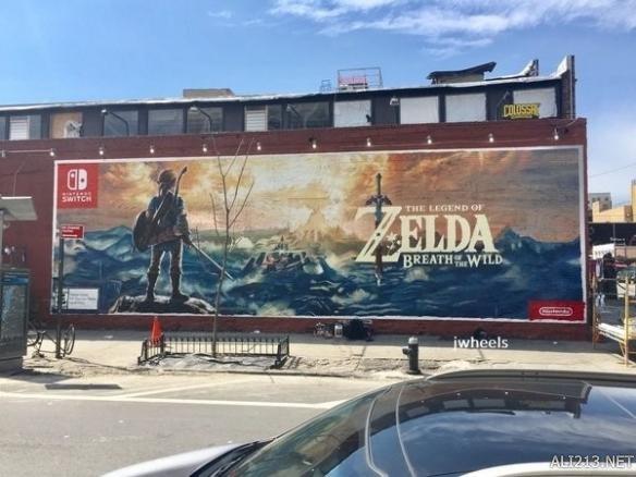 任天堂纽约街头绘制《塞尔达传说:荒野之息》壁画