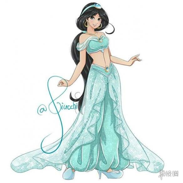 日系风迪士尼公主竟然长这样!网友最爱花木兰姐姐!