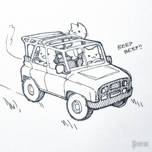 国外猫奴绘制猫咪版吃鸡漫画 《绝地求生大逃杀》画风