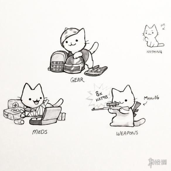 萌猫版《绝地求生大逃杀》吃鸡漫画集结成册 相关作品