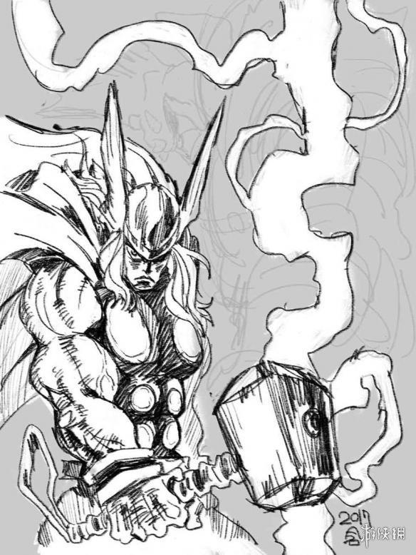 绿巨人简笔画-天元突破 导演绘制超级英雄 神奇女侠前凸后翘
