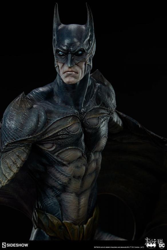 DC哥谭梦魇系列恶魔蝙蝠侠手办 脱下面具吓