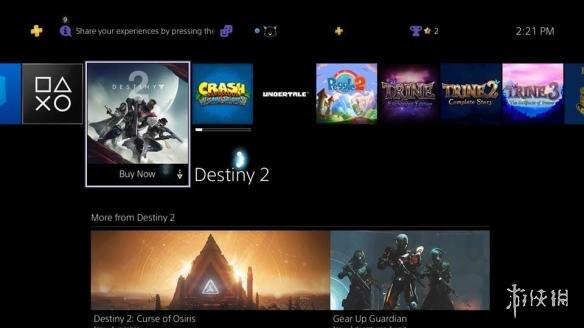 《命运2》广告登录ps4主页引不满 看着像免费送游戏