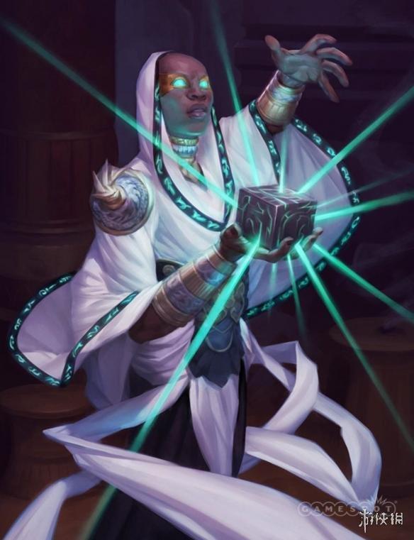 V社《DOTA2》卡牌游戏《Artifact》概念图 白衣光头是新英雄?