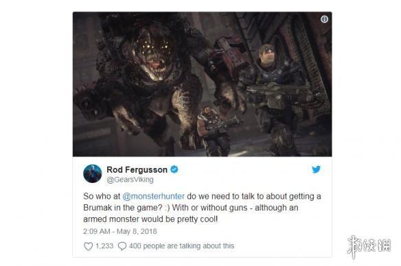 《战争机器4》开发商示威《怪物猎人世界》增长他们的新怪