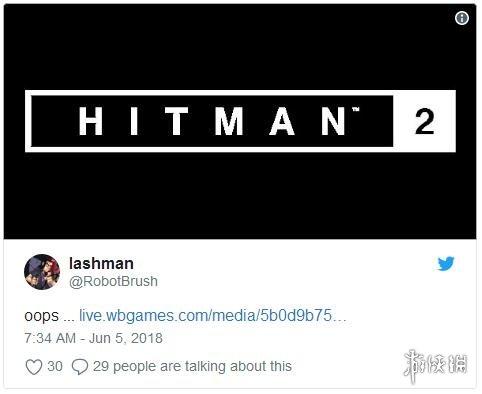 Warner Bros推特神秘倒计时开启 网站惊现《杀手2》logo图