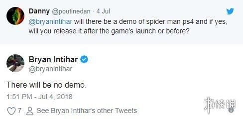 《漫威蜘蛛侠》将不会发布试玩 不含在线挑战积分榜