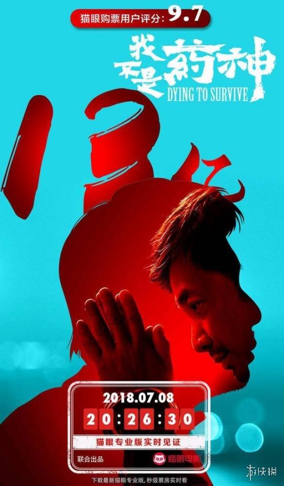 《我不是药神》4天13亿!票房刷屏破《战狼2》纪录