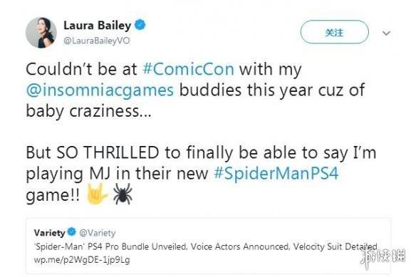 《漫威蜘蛛侠》玛丽简配音演员是曾饰演老滚5瑟拉娜的著名才女Laura Bailey