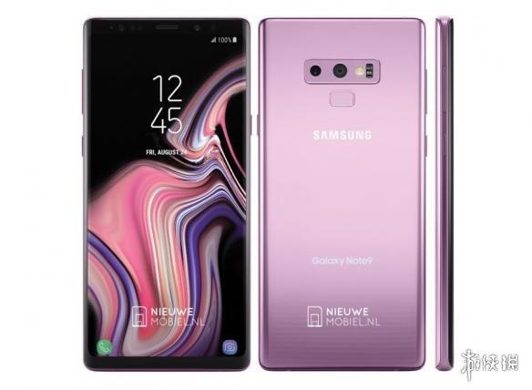 三星Galaxy Note 9丁香紫渲染图曝光 双摄布局曲面屏