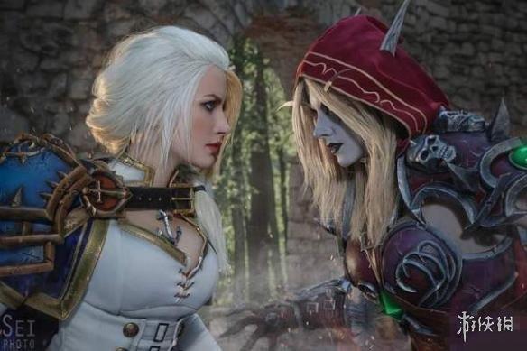 美女cos《魔兽世界》吉安娜、希瓦女王 两个女人的战场