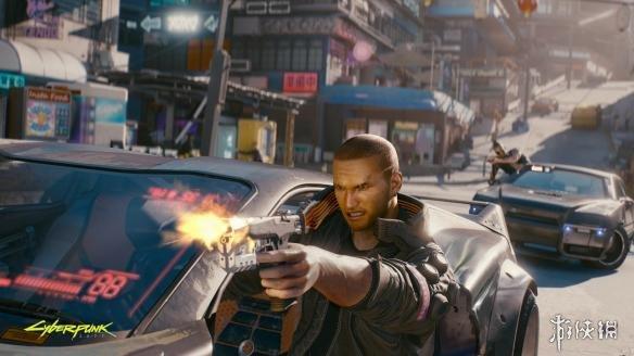 《赛博朋克2077》新截图 男主面部狰狞街头飚枪战!