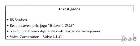 V社因Steam游戲Bolsomito 2k18涉嫌詆毀巴西總統大選而遭到調查!