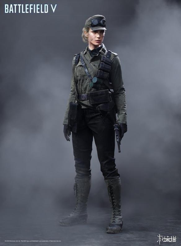EA画师晒《战地5》游戏艺术图 德国女军官婀娜多姿