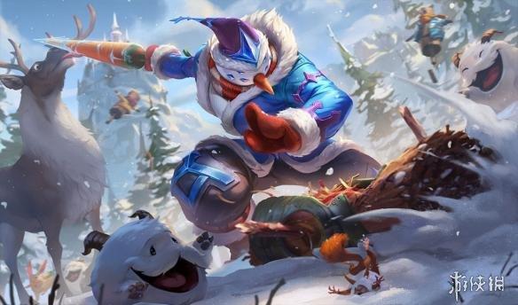 《英雄联盟》冰雪节皮肤原画公布 易大师的剑成了冰冻萝卜