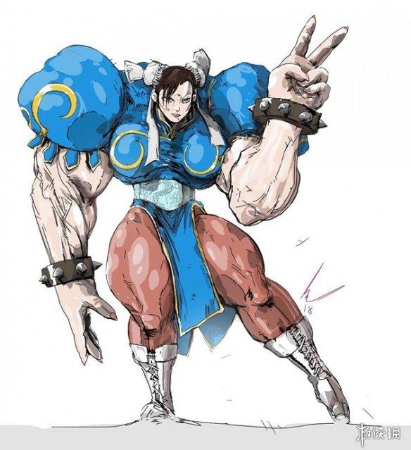 """很粗很大很强!鬼畜插画师将动画角色都加上""""麒麟臂"""""""