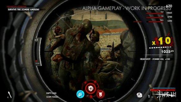 《僵尸部队4:死亡战争》实机演示 虐杀僵尸酸爽无比