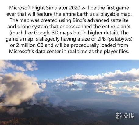 《微软模拟飞行》地图信息庞大引热议众多数据依靠AI实时渲染