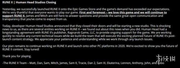 粉丝与发行商面面相觑《符文2》发售次日工作室解散
